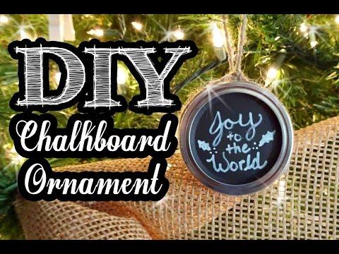 Chalkboard Mason Jar Lid Ornament