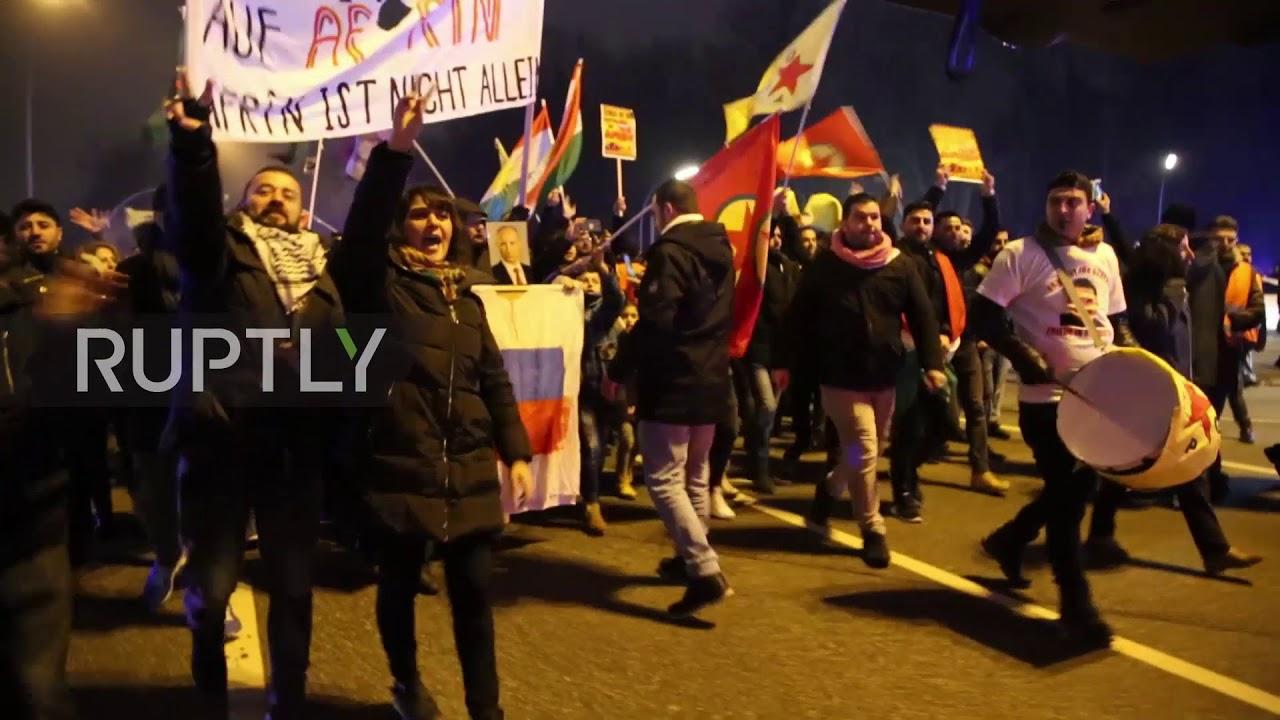 Germany: Kurds protest in Hamburg over Turkish airstrikes