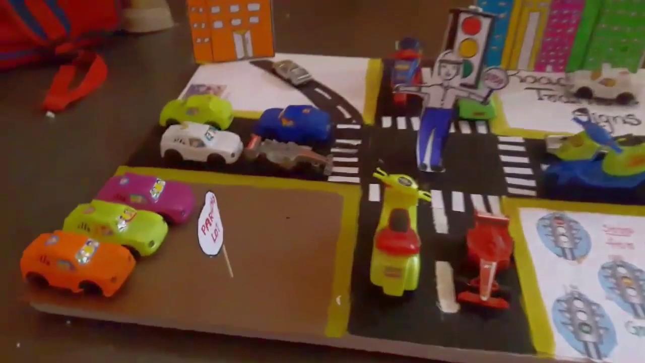 Road traffic light project   school project - YouTube