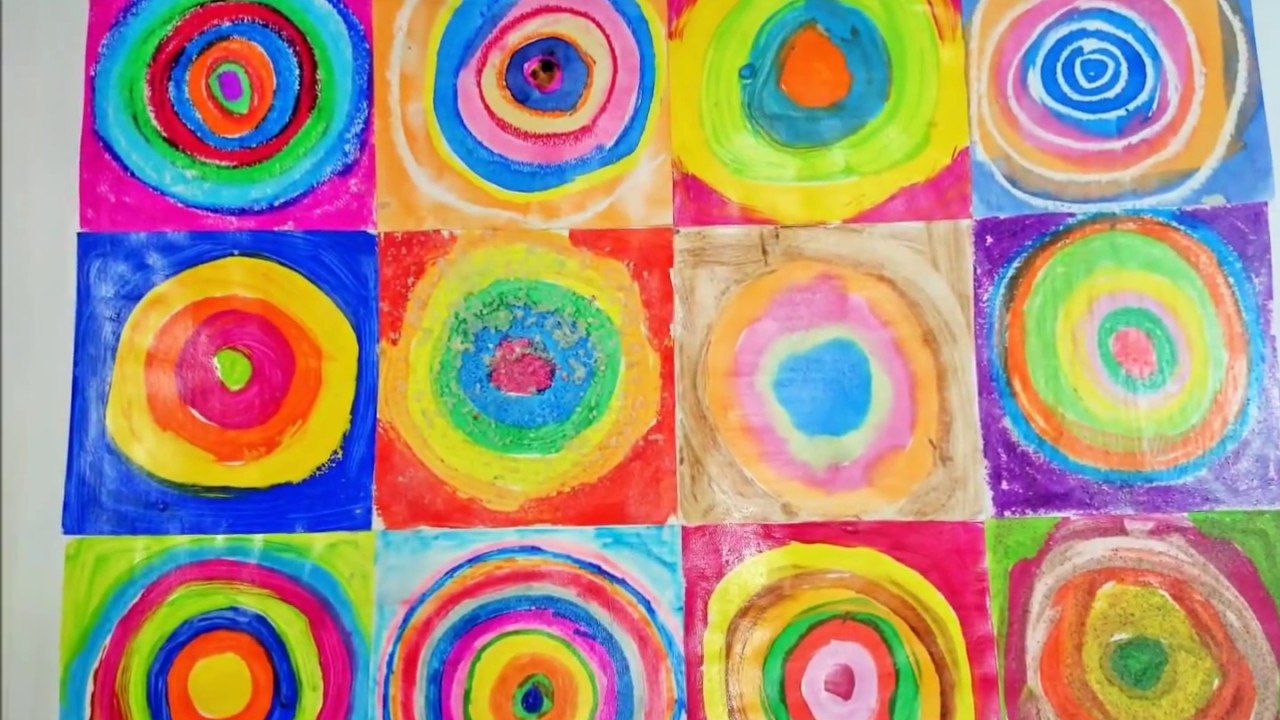 Re interpretando a kandinsky actividad para ni os youtube for Fotos de cuadros abstractos sencillos