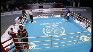 AIBA Worlds semi-finals,75kg Ievgen KHYTROV  ( Ukraine ) - Bogdan JURATONI ( Romania) )