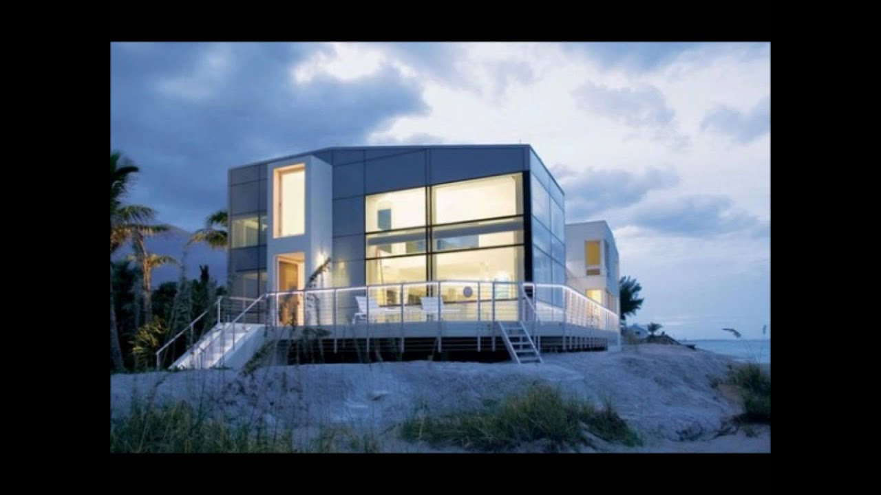 20 imaginative modern beach house designs youtube for Contemporary beach house designs