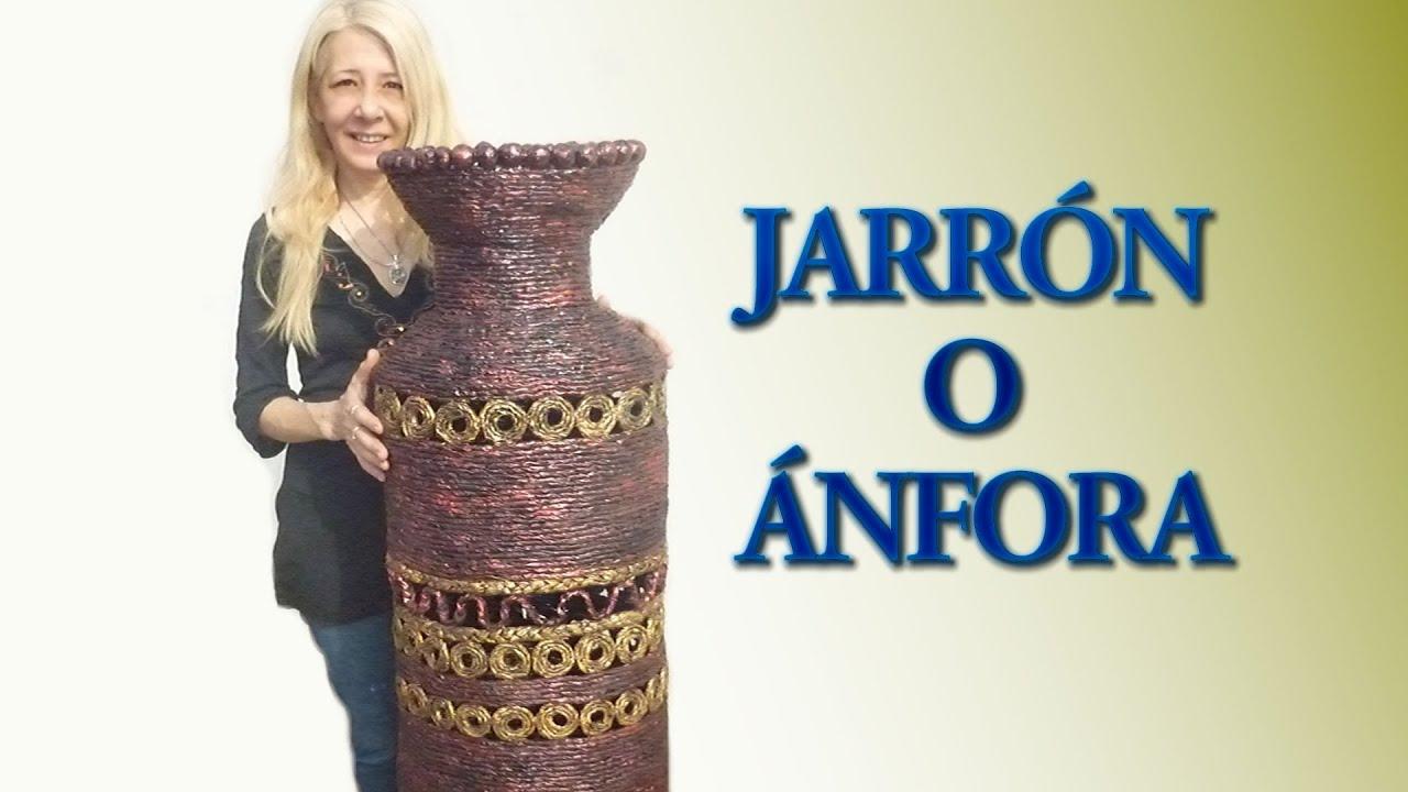 Jarr n o nfora youtube - Como hacer jarrones de papel ...