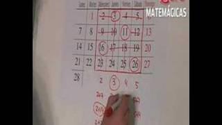 EXPLICACIÓN TRUCO 9: Adivinación de los calendarios