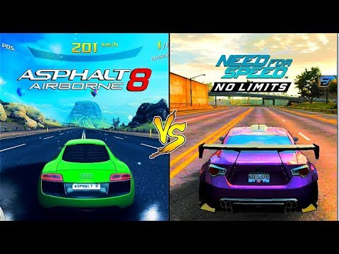 Asphalt 8 Airborne VS Need For Speed: No Limits Comparison I Android HD