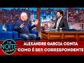 Exclusivo para web: Alexandre Garcia fala como é ser correspondente   The Noite (22/04/19)