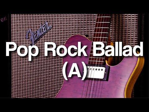 Pop Rock Ballad Backing Track in A