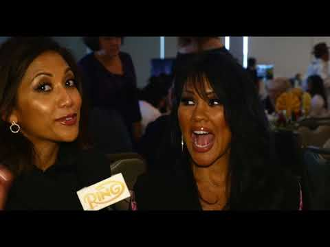 Mia St. John surprises Christy Martin at the  2018 National Boxing Hall of Fame Ceremony