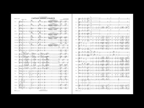 Captain America March by Alan Silvestri/arr. Michael Brown