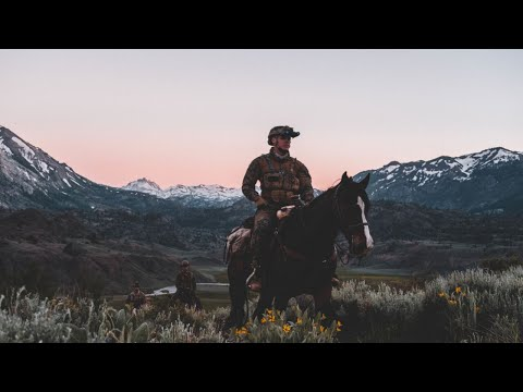 US Marine Raiders and US Army Special Forces on Horses