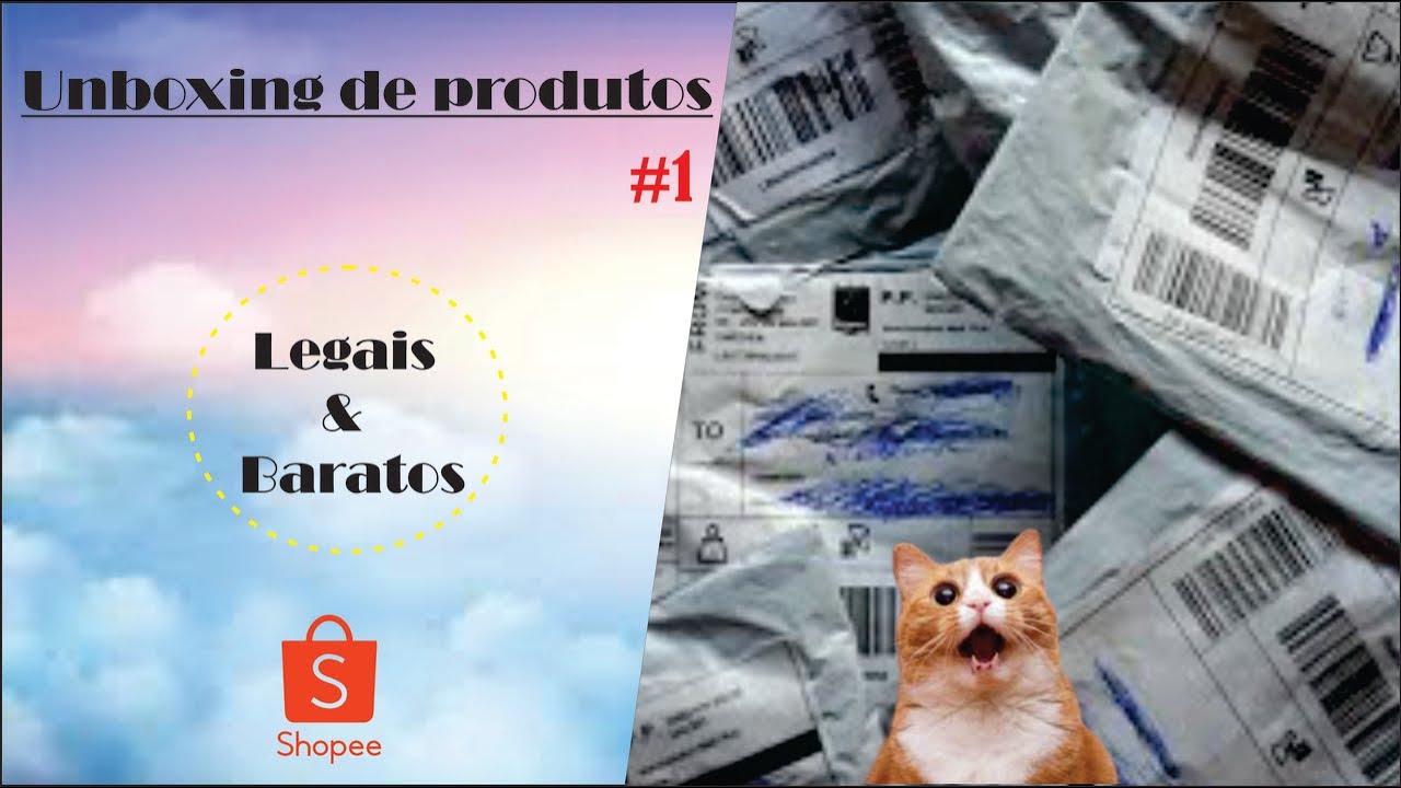 Unboxing de Produtinhos bem legais da Shopee - Coisinhas boas e baratas