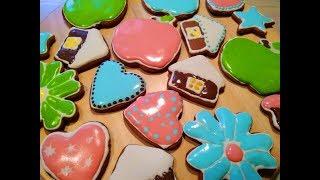 Пряные пряники из темного сахара/Spicy gingerbread cookies from the dark sugar