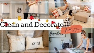 FALL CLEAN & DECORATE WITH ME 2019! | NEW FALL FARMHOUSE DECOR + HOME TOUR!