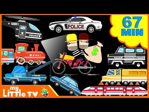 Police Car | Trains | Street Vehicles | Car Wash Videos Plus Lots More | My Little TV