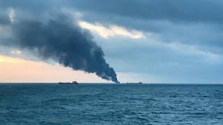 مقتل 14 شخصا على الأقل في حريق سفينتين بالبحر الأسود قرب القرم…