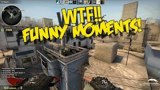 CS:GO FUNNY MOMENTS - FLYING HACKS, WALLBANG CLUTCH & MORE