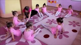 Открита тренировка по художествена гимнастика с най-малките гимнастички от първа група