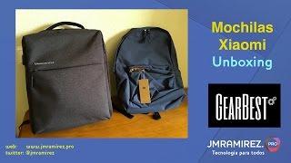 Unboxing de dos mochilas Xiaomi by Gearbest.com