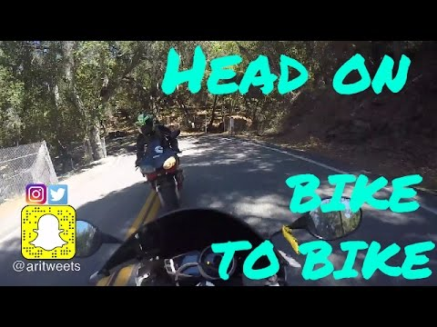 MOTORCYCLE ACCIDENT ON MULHOLLAND   HEAD ON CAUGHT ON GOPRO
