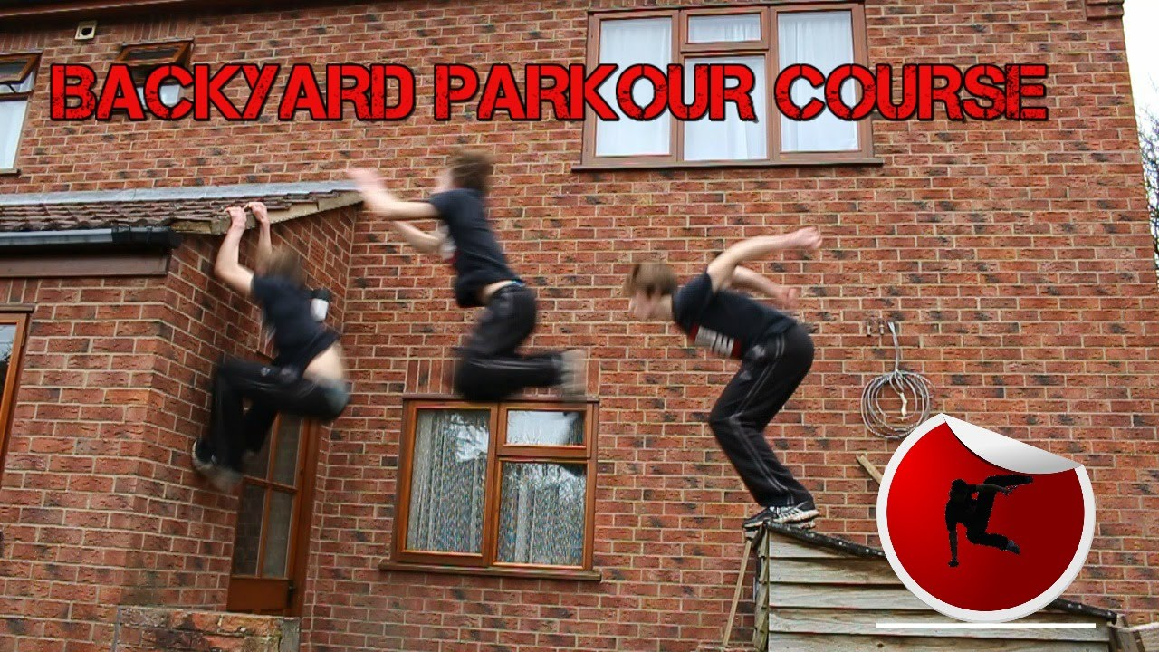 backyard parkour training course youtube