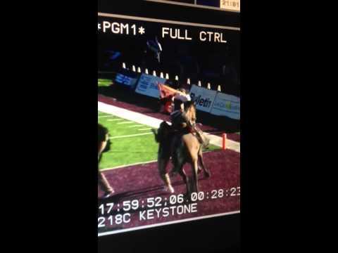 NMSU's Pistol Pete, riding Keystone, knocks girl down at Cal Poly game