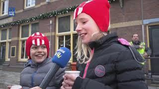 Pro Rail verrast reizigers op station Ommen met chocomelk
