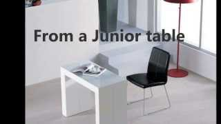Junior Giant- Desk Transforms Into Conference Table By Murphysofa