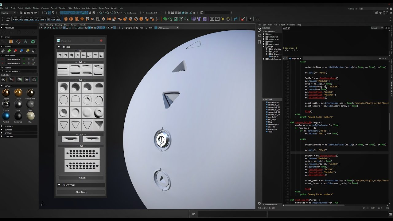 Script PlugIt - Hard Surface Modeling ToolKit for Maya - Trailer