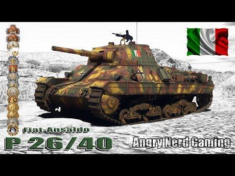 "War Thunder: Fiat-Ansaldo  P 26/40 ""Leoncello"", Italian, Tier-2, Premium Medium Tank"