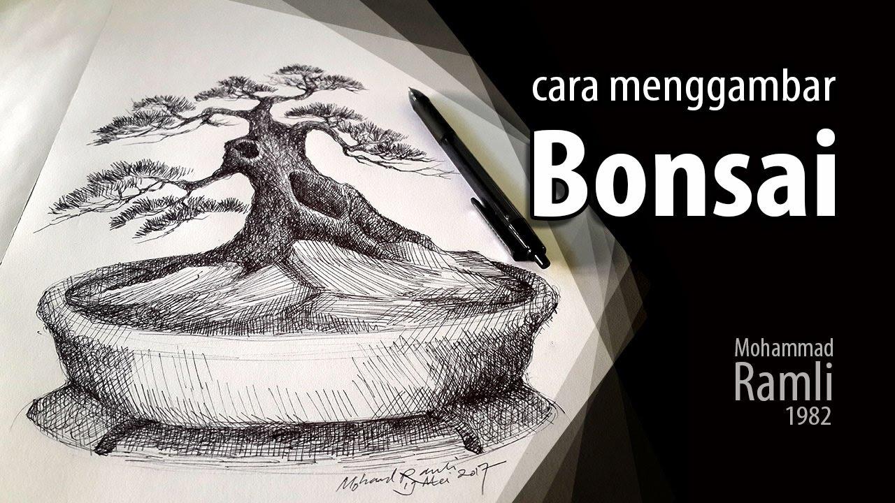 Kumpulan Sketsa Gambar Pohon Bonsai