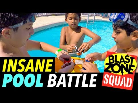 Beyblade Burst Insane Pool Battle!  Funny Beyblade Tournament in Floating Stadium!