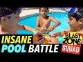 Beyblade Burst Insane Pool Battle!  Funny Beyblade Tournament in Floating Stadium!