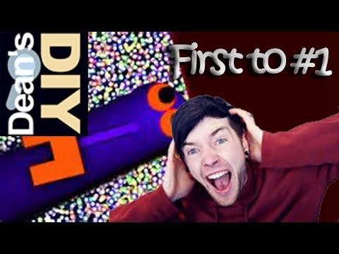 FIRST TO #1 w/DanTDM!! | SLITHER.IO | Gaming with Dean