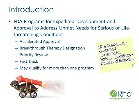 FDA's Expedited Development and Approval Programs