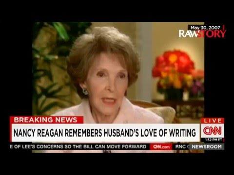 Larry King: Nancy Reagan was 'very upset' about the 2016 presidential race