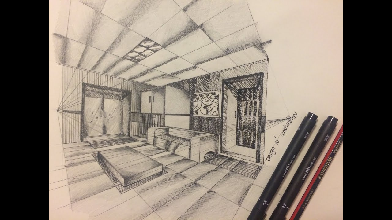 One point perspective living room drawing - One Point Perspective Living Room Drawing 41