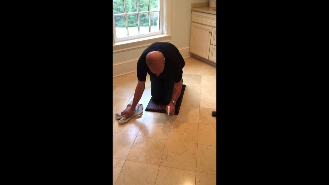 How To Clean Marble Stone Grout Youtube