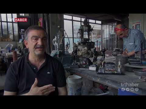 Zonguldak'ta babadan kalma atölyede 72 yıldır madenci heykelleri yapılıyor