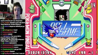 Pokemon Pinball Ruby and Sapphire WR: Ruby table