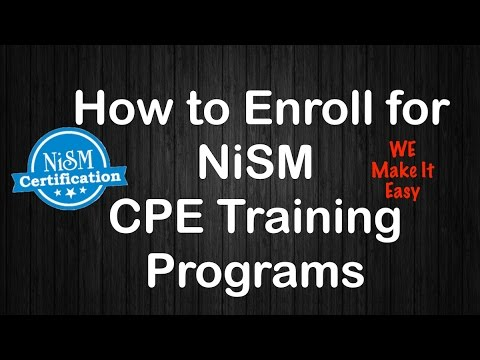 How to Enroll for NISM CPE Training Programs ? - NiSM login video ...