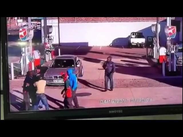 Fight over petrol bill at Caltex, Middelburg