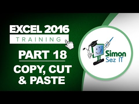 Excel 2016 for Beginners Part 18: How to Cut, Copy and Paste Data