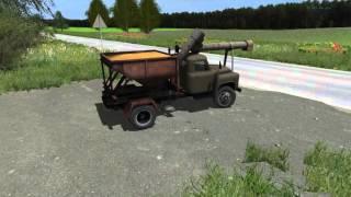 Мод ''Автомобиль ГАЗ-53 АС 2-УМ''. Автомобильный загрузчик сеялок.