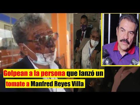 Bolivia   Agreden a José Luis Funes la persona que lanzó un tomate a Manfred Reyes Villa