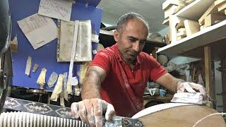 Dut bağlama zımpara işi yapıyor Cengiz usta +905363471501