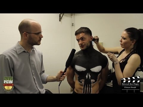 WWE's Finn Balor (aka Prince Devitt) - Backstage Bodypaint Interview