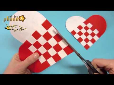 Hướng dẫn cách làm Thiệp Tặng Valentine 14/2 cực dễ thương