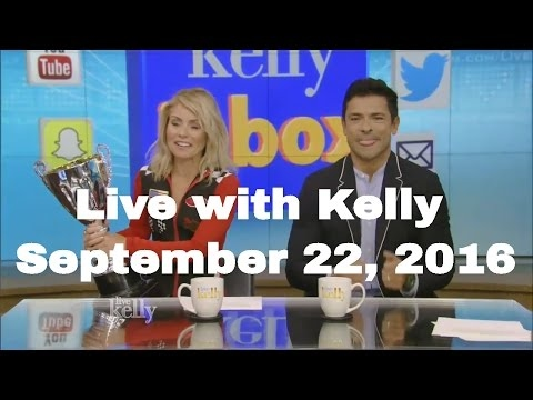 Live with Kelly (September 22, 2016) Juliette Lewis; NASCAR driver Brad Keselowski; Mark Consuelos