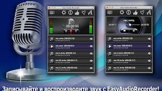 Easy Audio Recorder:  запись в форматах M4A, WAV, AIFF и CAF