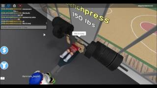 Roblox fitness centre with annoying coach bob | Playing Roblox